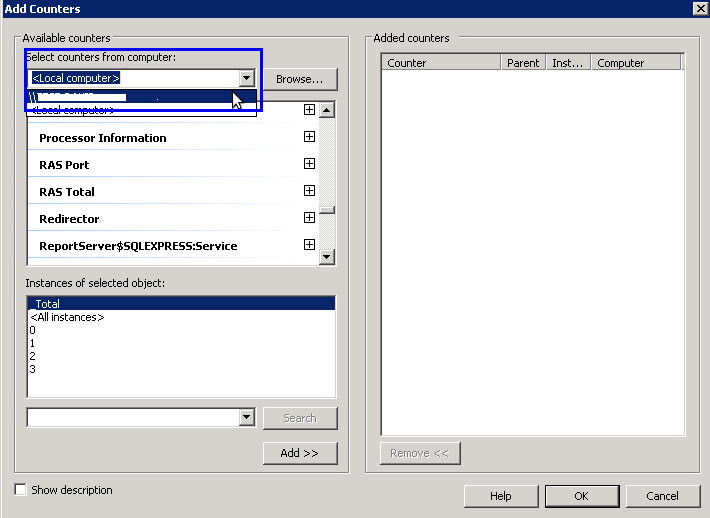 Add Counters in HyperV Server