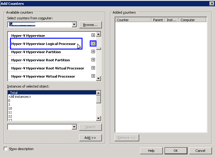 Add Counter for HyperV Logical Processor