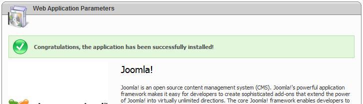 Joomla in Microsoft Web App Gallery