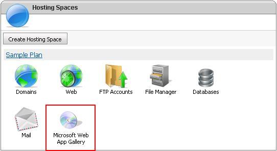 Microsoft Web Application Gallery