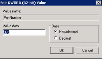 Registry Editor Dword