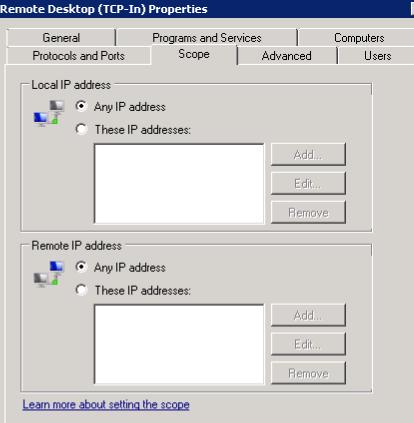 Remote Desktop Properties