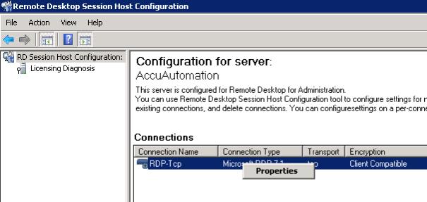 Remote Desktop Session Host Configuration
