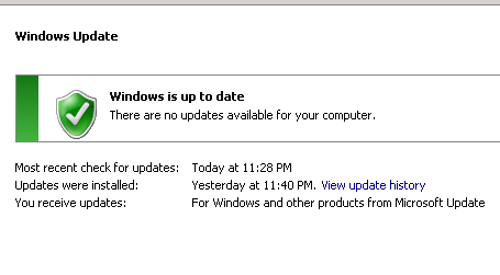 Windows is Up to Date