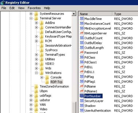 Windows VPS Registry Editor