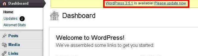 Update WordPress Version