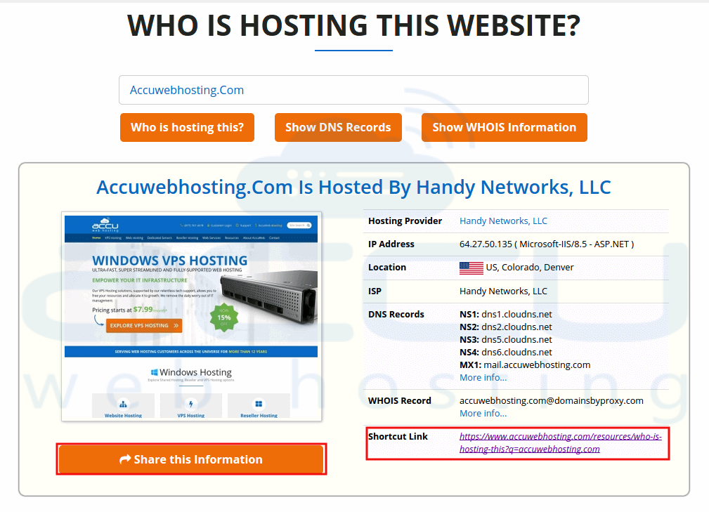 Web Host Lookup