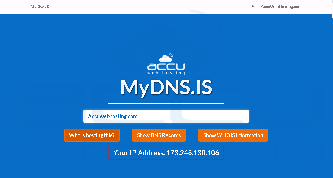 DNS Check, Domain Whois and Web Host lookup Services
