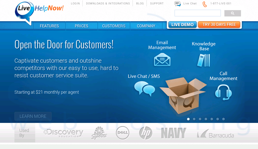 Features. Do LiveHelpNow offer a free live chat ...