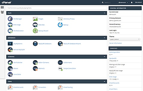 AccuWeb Hosting cPanel Demo