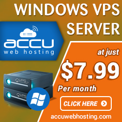 LOW COST WINDOWS VPS HOSTING starting at just $7.99/month